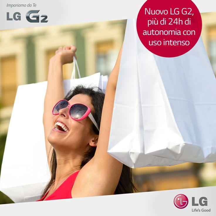 #LGG2, lo #smartphone con una carica sorprendente! #shopping #24H