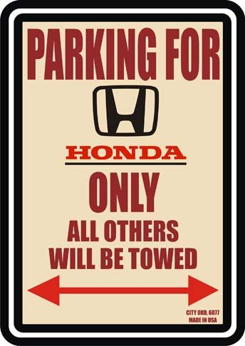 6077PARKING ONLY - HONDA - CITY ORD. 6077* S - 29x41-