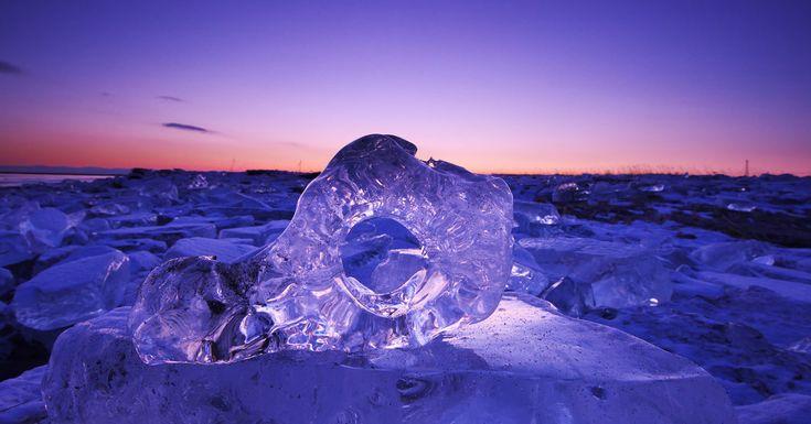 Ice That Sparkles Like Diamonds Washes Onto Japanese Shores