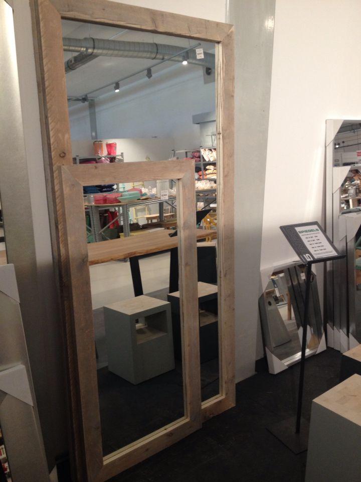 Steigerhouten spiegel - zelf maken of Loods5 €159 60x120cm €258 80x180cm