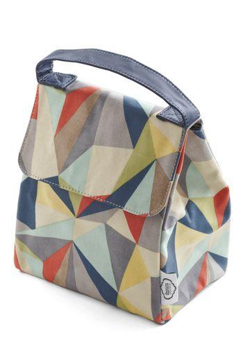 Graphic Diner Lunch Bag adoro o formato