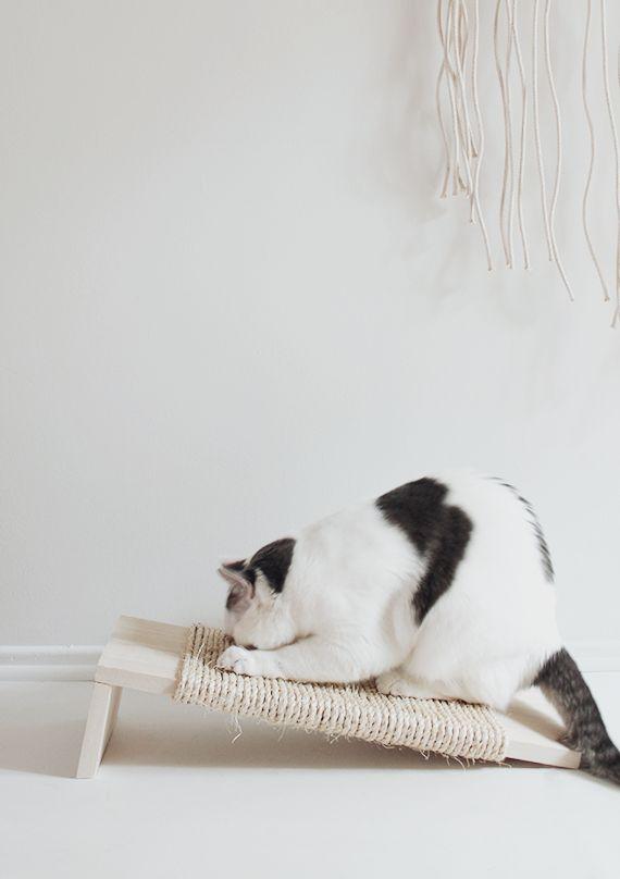 DIY Katzen Kratzbrett, Kratzbaum, Kratzmöglichkeit, DIY Cats, DIY scratching.