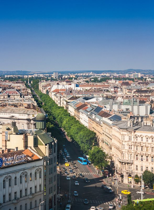 Andrássy street from above, Budapest, Hungary