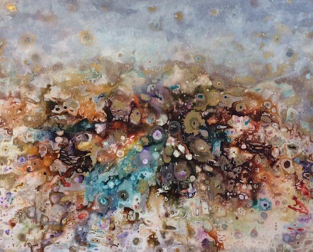 SOLD 'earth abundance' by Sarah Boulton www.tuskgallery.com.au