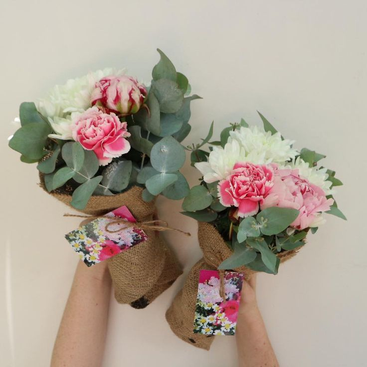 Poco Posy  Friday 25 November 2016  Pale pink PEONIES, pink and white carnations, white chrysanthemums & a little gum • $30 single • $55 double • $85 triple • $55 Man Posy including delivery to Brisbane, Moreton Bay, Logan, Redlands & Ipswich. Be quick, limited stock! www.pocoposy.com.au or 0412 449 682.   Single $30 pictured