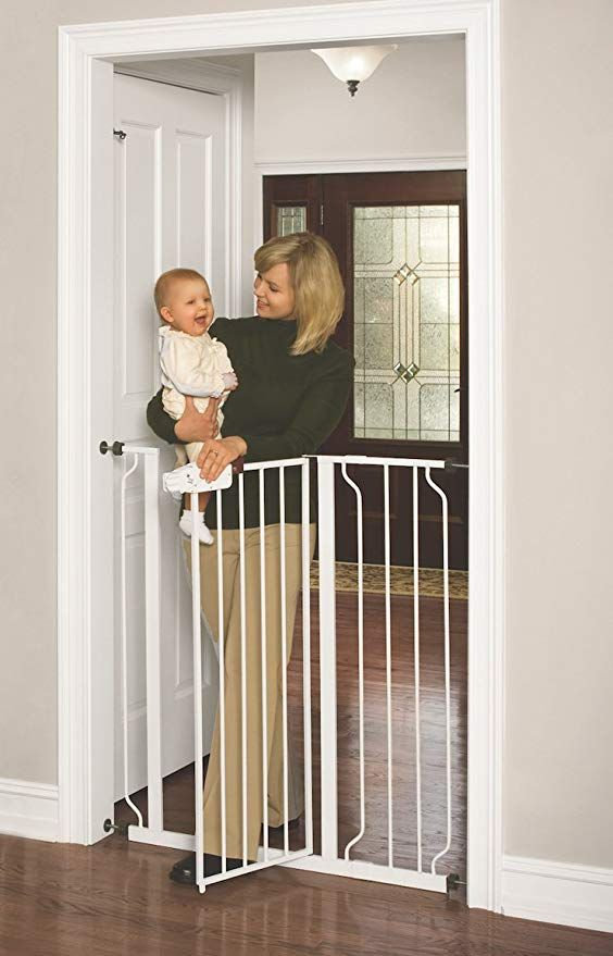 Regalo Easy Step Extra Tall Walk Thru Gate White Cat And Dogs