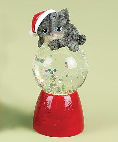 Gray Kitten Snow Globe by Roman, Inc.