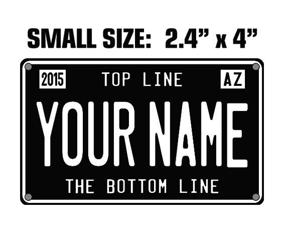 Personalized bike/scooter license plate