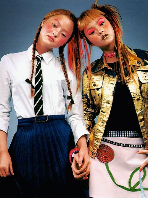 Devon Aoki by Nathaniel Goldberg for Moschino Spring/Summer 2001