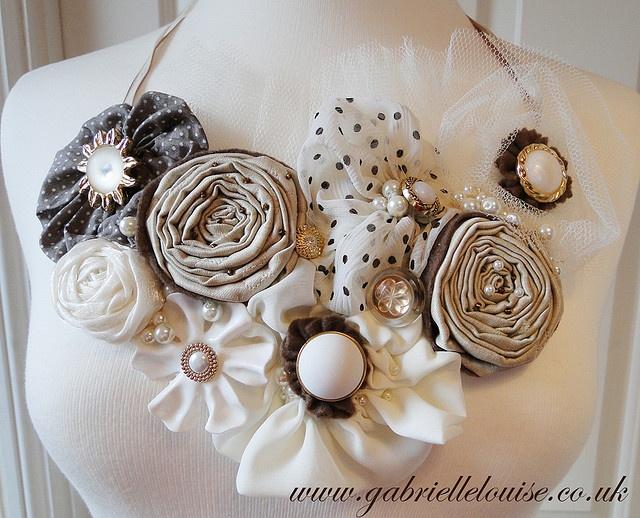 Fabric flower ideas