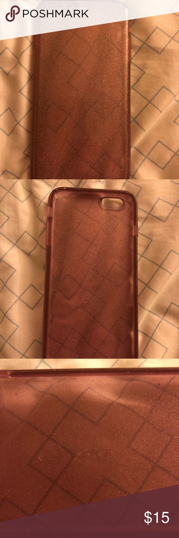 Pink Sparkle Speck IPhone 6 Plus case Used a short time, very good condition speck Other