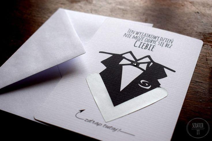 Kartka zdrapka dla ŚWIADKA - Scratch_it - Kartki ślubne