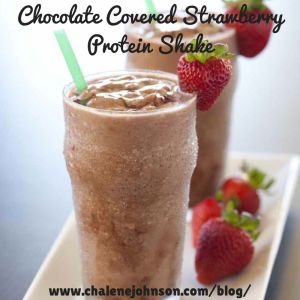 This recipe is the bomb . com  such a good protein shake and the strawberry chocolate combination is perfect