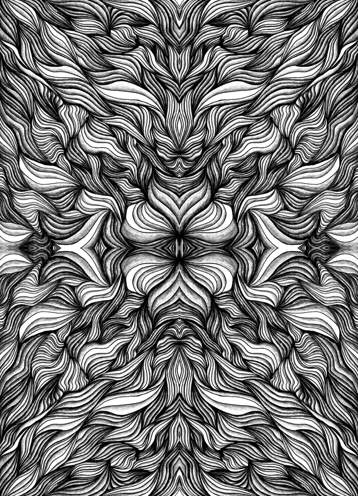 Black & White Psychedelic Art