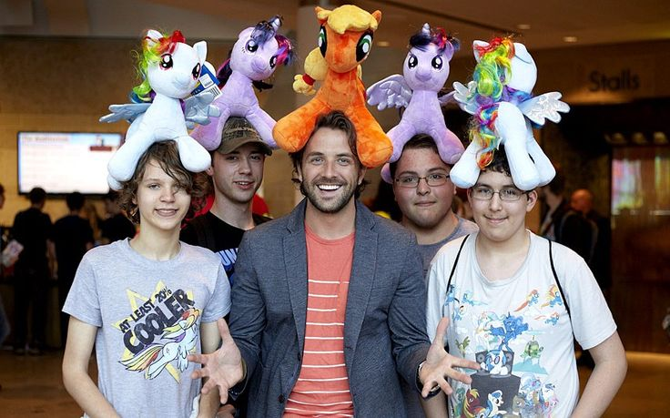 Meet the Bronies - National Geographic presenter Darren McMullen with some Bronies in Manchester
