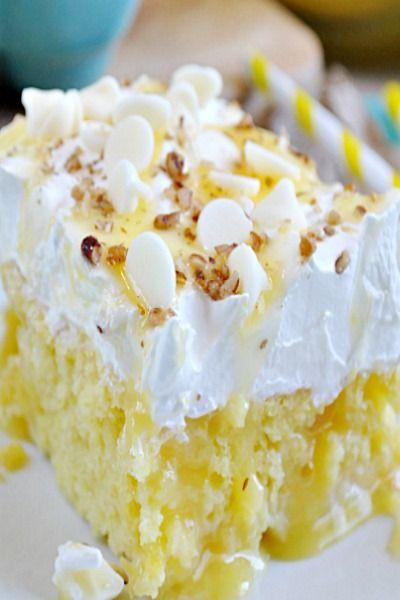 Lemon Poke Cake -  I will probably use Lemon pudding, not lemon curd.  Keep it simple!!