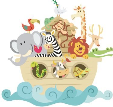 Adesivo bambini Arca di Noè