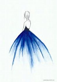 Image result for simple girl in blue dress drawing