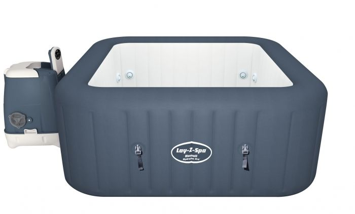 Jacuzzi gonflable chauffant carré 4 6 places bleu Lay Z SPA HAWAII Air Jet hydrojet Pro ™ BESTWAY ®