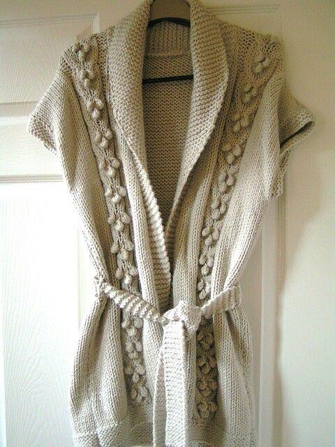 Knitted cardigan chunky sirdar