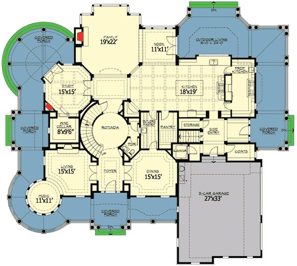 284 best images about house plans on pinterest 2nd floor for Luxury shingle style house plans