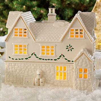LENOX Figurines: Christmas - Lenox Village Lighted Pub Figurine