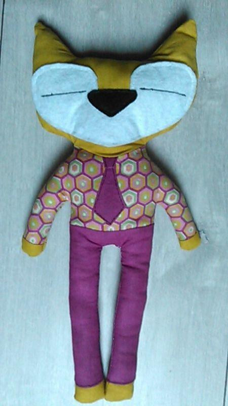 Doudou renard - www.monbookcouture.canalblog.com
