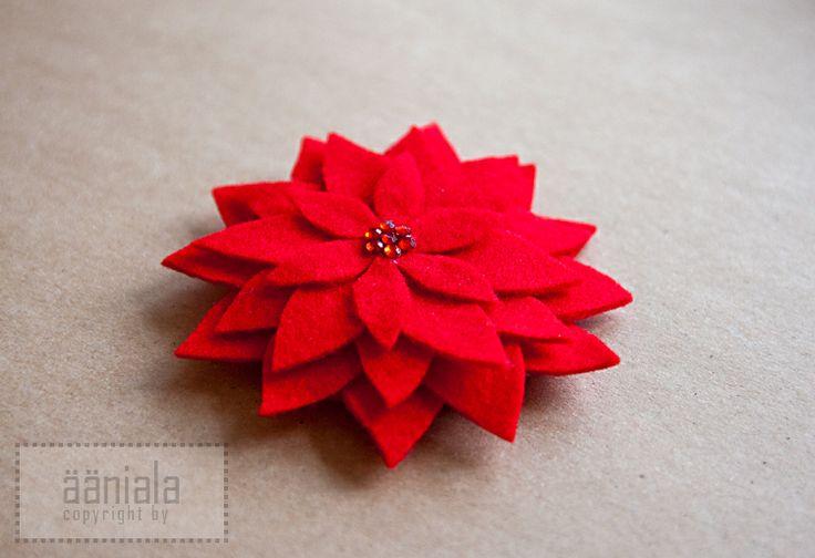 DIY Felt flower brooch/magnet