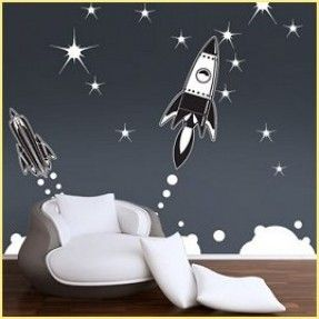 outer space bedrooms - decorate solar system bedrooms - boys space bedroom decorating - rocket murals - alien murals - astronaut wall murals - planets, moon, stars, outer space themed decorating ideas - galaxy alien decorating - Space room theme ideas - r