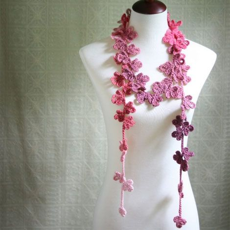 25+ best ideas about Crochet Flower Scarf on Pinterest ...