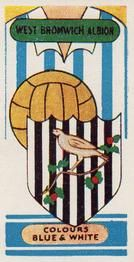 1958 Football Clubs and Badges #1 West Bromwich Albion Front