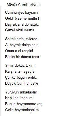29 Ekim Cumhuriyet Bayramı şiirleri Ile Ilgili Görsel Sonucu Sanat
