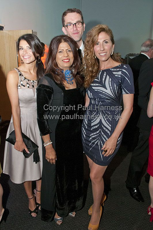 Emmerdale actors Natalie Anderson, Mark Charnock & Gaynor Faye with Aagrah restaurant's Taz at the Royal television society Yorkshire centre awards 2015