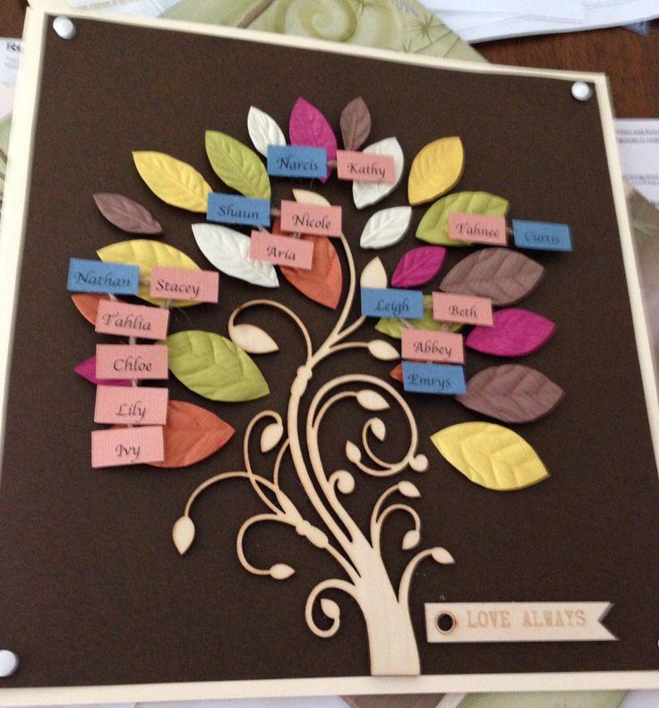 Family Tree Handmade Card | DIY |