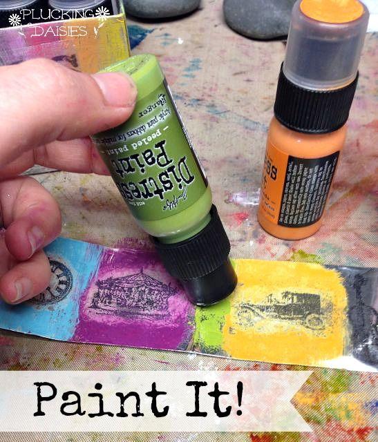Distress Paint (and why I LOVE it!) | @PluckingDaisy #RangerInk #TimHoltz