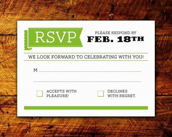 9 best RSVP - Reply Card Design images on Pinterest Wedding - best of invitation card wedding format