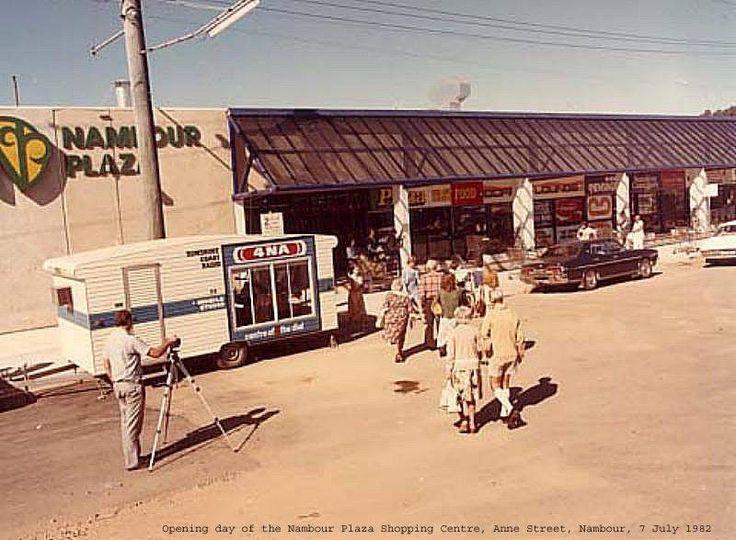 Opening Nambour Plaza Shopping Centre 1982.