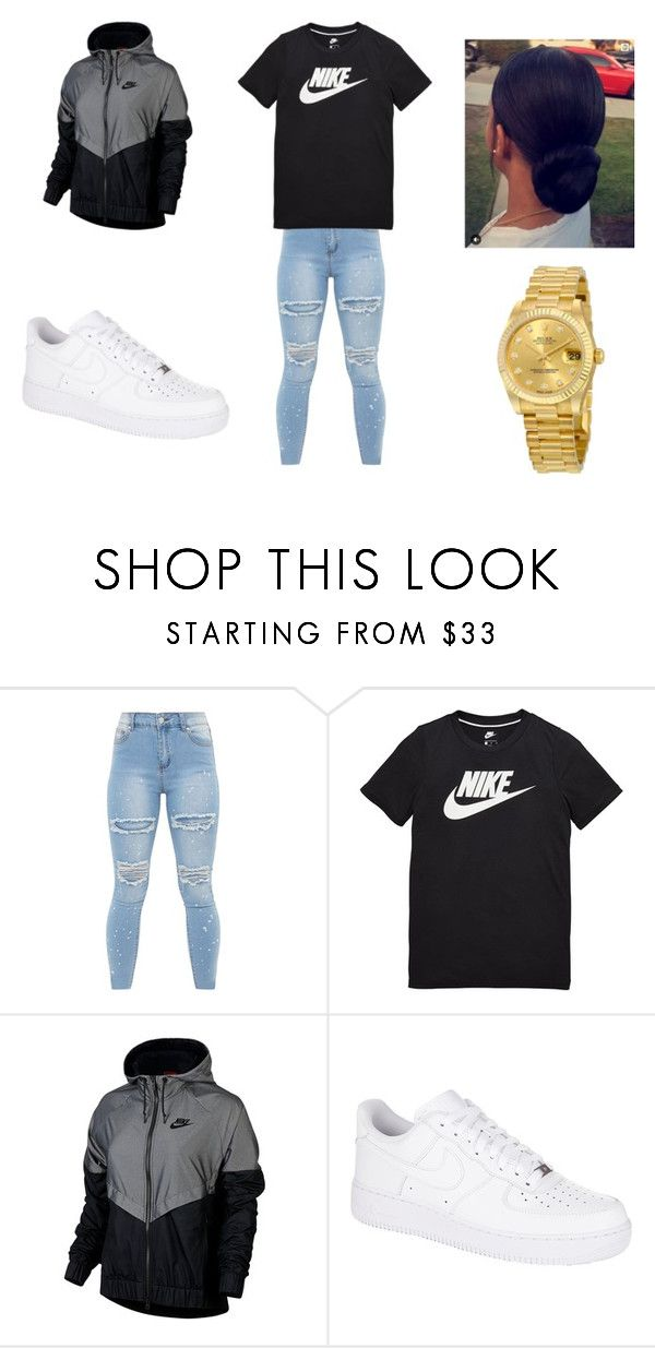 """nike"" by holmes-l on Polyvore featuring NIKE and Rolex"