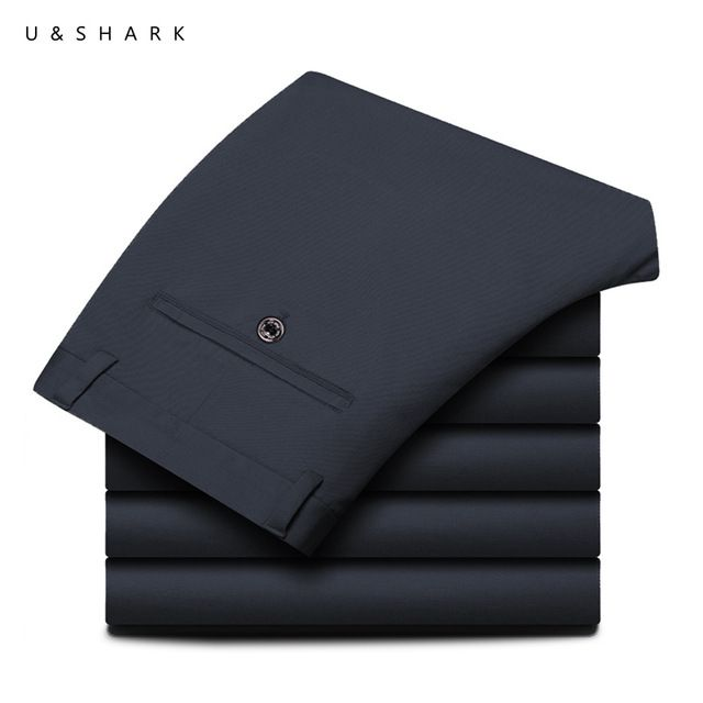Promotion price U&SHARK Regular Fit Men Casual Pants Classic Straight Blue Pants Men Work Pants Quality Business Male Trousers Cotton Broadcloth just only $17.84 with free shipping worldwide  #pantsformen Plese click on picture to see our special price for you