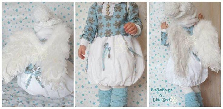 #Erbsünde #winterkleid  #evli'needle jersey #schneekristalle, #snowflakes  #winterdress #Dress #bubbledress #Angelcostum #engelskostüm#tullebunt&LilleSnø