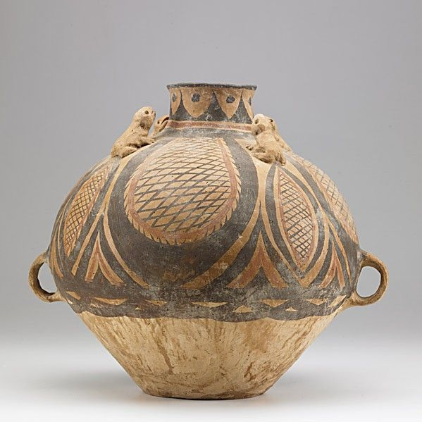Neolithic Chinese Pottery, Mechang culture, ca. 3300 BC.