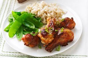Maple-Glazed Chicken Drummettes #recipe