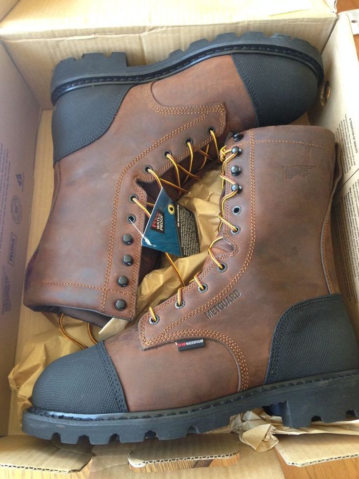 Men S Red Wing Boots Waterproof Steel Toe Metatarsal