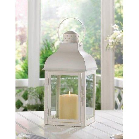 wedding candle lanterns wholesale bulk prices set of 10 gable large white iron glass candle