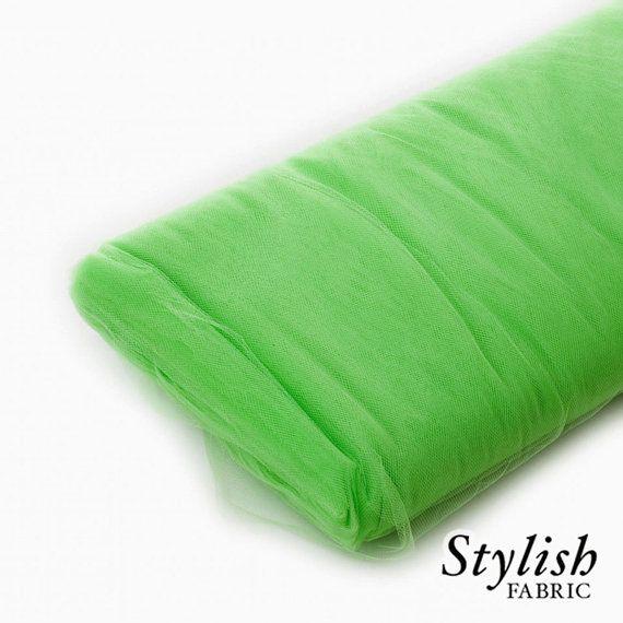 Light Green Tulle Fabric Wedding Tulle Fabric by StylishFabric, $20.00