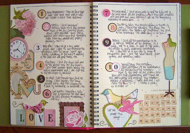 Gorgeous Smash Book page #scrapbook #journal #notes #diy