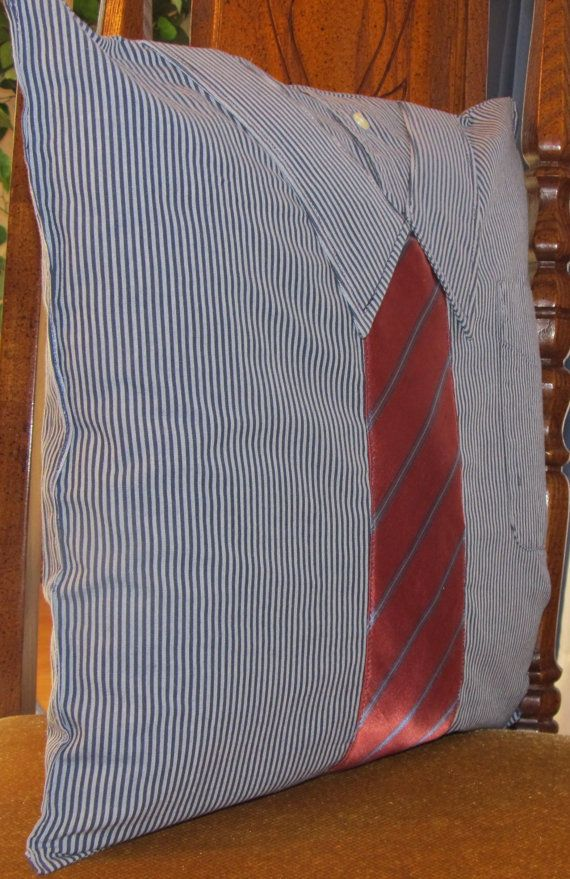 Men's Shirt & Tie Pillow by annespillowdesigns on Etsy