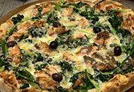 Pizza de salmão com massa integral Receitas Light