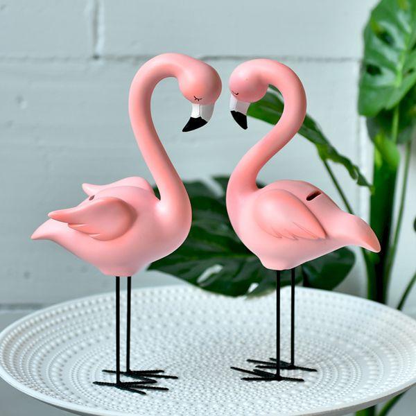 Известный Flamingo Nordic Ins творческих мультипликационные животных, живущего окно спальни Desktop декоративный подарочный набор