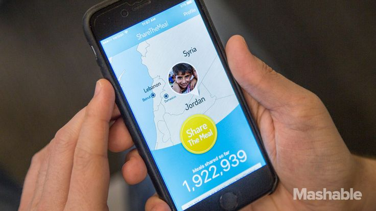 New app lets you easily donate meals to Syrian refugee children for 50 cents